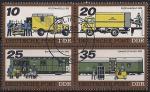 ГДР 1978 год. Почтовый транспорт. 4 гашёные марки