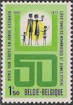 Бельгия 1971 год. 50 лет Обществу защиты прав детей. 1 марка