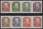 Польша 1950 год. Первый президент Польской Республики Б. Берут. 8 марок с наклейкой