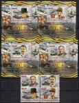 Конго 2015 год. Лидеры стран антигитлеровской коалиции. 4 гашеные марки + 4 блока