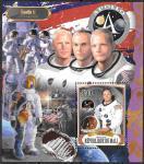"""Мали 2018 год. """"Аполлон-11"""", космонавт Нил Армстронг, блок"""
