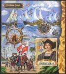 Мали 2018 год. Христофор Колумб, блок