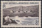 Французские Антарктические территории 1956 год. Остров Сент-Поль. 1 марка из серии (ном 8)