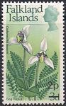 Фолклендские острова 1971 год. Цветок треножник многолетний. 1 марка из серии с НДП (ном 2)
