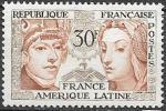 Франция 1956 год. Французско-Латиноамериканская дружба. 1 марка