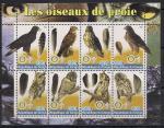 Конго 2004 год. Хищные птицы. 1 блок