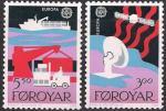 Фарерские острова (Дания) 1988 год. Европа. Транспорт и коммуникации. 2 марки