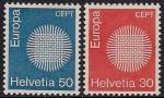 Швейцария 1970 год. Европа. 2 марки