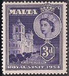 Мальта 1954 год. Визит Елизаветы Второй. 1 марка