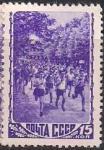 СССР 1948 год. Легкая атлетика (1220(2). Растр КВ. 1 марка