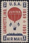 США 1959 год. 100 лет первой доставке воздушной почты. 1 марка