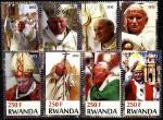 Руанда 2012 год. Папа Иоанн Павел II. 8 марок