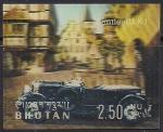 Бутан 1971 год. Старинные автомобили. Бентли. 1 марка из серии (ном 2.50)