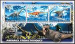 Мадагаскар. Динозавры, малый лист. (1+3+5)