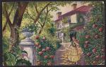 Открытка. В саду. 1920 г.