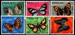 Панама 1968 год. Бабочки. 6 гашеных марок