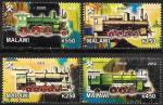 Малави 2012 год. Паровозы. 4 марки
