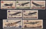 СССР 1937 год. Самолеты (473-79). 7 марок с наклейкой