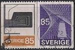 Швеция 1974 год. Станки текстильной промышленности. 2 гашёные марки