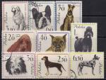 Польша 1963 год. Породы собак. 9 гашёных марок