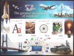 Киргизия 2012 год. Величайшие изобретения человечества (166.357). 1 блок без зубцов