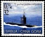 Сербия и Черногория 2003 год. 75 лет подводному флоту Югославии. 1 марка