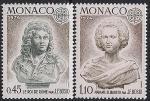 Монако 1974 год. Скульптуры работы Франсуа Бозио. 2 марки