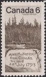 Канада 1970 год. 150 лет со дня смерти шотландского путешественника А. Маккензи. Обелиск в лесу. 1 марка
