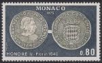Монако 1975 год. Старинные монеты. 1 марка