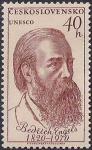ЧССР 1970 год. ЮНЕСКО. 150 лет со дня рождения Фридриха Энгельса (8). 1 марка из серии