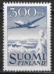 Финляндия 1950 год. Стандарт. Самолет. Дуглас, 1 марка