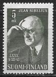 Финляндия 1945 год. Композитор Ян Сибелиус, 1 марка
