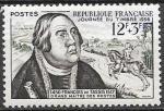 Франция 1956 год. День почтовой марки. Франц фон Таксис. 1 марка