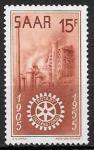 Германия, СААР 1955 год. 50 лет международному ротарианскому клубу. 1 марка