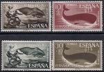 Фернандо По (Экваториальная Гвинея) 1960 год. Китобои. (375.188). 4 марки. Испания