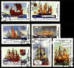 Мадагаскар 1991 год. 500 лет открытия Америки. 7 гашеных марок
