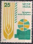 Индия 1978 год. 5-й Международный симпозиум по изучению пшеницы в Нью-Дели. 1 марка