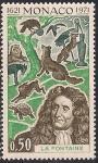 Монако 1972 год. 350 лет со дня рождения писателя Жан де Лафонтена. 1 марка