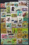 Набор иностранных марок. Флора и фауна (1). 40 гашеных марок
