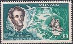 Монако 1970 год. 100 лет со дня смерти писателя Альфонса де Ламартина. 1 марка