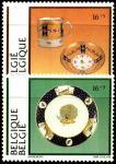 Бельгия 1994 год. Бельгийский фарфор. 2 марки