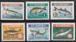 Албания 1964 год. Рыбы, 6 марок