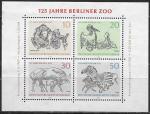 ФРГ 1968 год. Животные. 125 лет Берлинскому зоопарку, блок