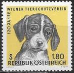 Австрия 1966 год. 120 лет Венского общества Защиты Животных, 1 марка