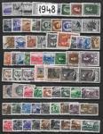 Годовой набор марок 1948 год. Гашеный