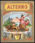 Винная этикетка Alterno, 88х110 мм, тиснение