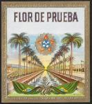 Винная этикетка Flor de Prueba, 93х105 мм, тиснение
