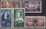 Южная Африка 1952 год. 300 лет основания южноафриканской торговой компании. 5 марок