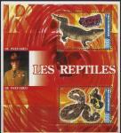Мали 2005 год. Основатель скаутского движения Р-Б. Пауэлл. Крокодил, змея и минералы. 1 блок