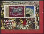 Йемен 1968 год. Летние Олимпийские Игры в Мехико. Древняя мексиканская культура. 1 блок
